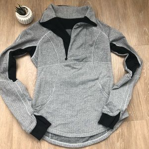 Lululemon Gray and Black Pullover